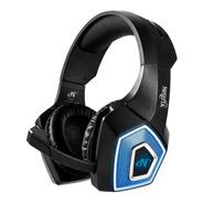 Auricular Gamer Nisuta Nsaug350l Negro / Azul Luz Led Ps4 Pc