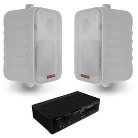 Kit Som Ambiente Hayonik Ambience 2000 Branco Usb Bluetooth