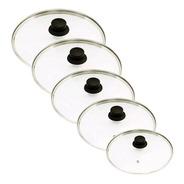 Conjunto De 5 Tampas De Vidro Temperado 16 A 24 Gastrobel