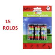 Kit 15 Rolos Fita Pega Mosca - Armadilha De Cola P/ Insetos