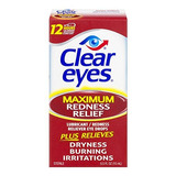 Clear Eyes Max Redness Re Size 5z Ojos Claros Maximum Rednes
