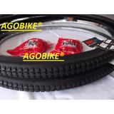 Aro 28x1.1/2cromado +pneu Pirelli+camara Ar Par Bicicleta
