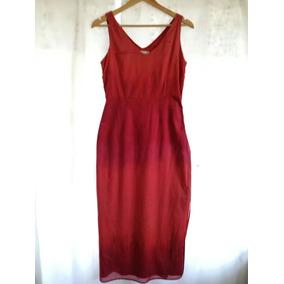 Vestido Rojo Ladrillo Mise Au Point