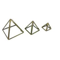 Piramide Em Vidro 3 Unidades