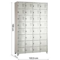 Armário Roupeiro De Aço Vestiário Academia 32 Portas Locker