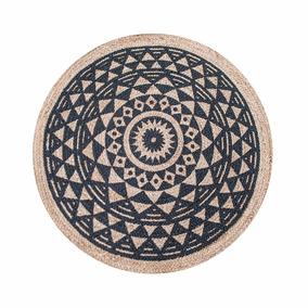 Carpetas Alfombras Bazhars Redonda Mandala De 1.20 Mts Yute