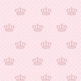 Papel De Parede Poá Infantil, Coroa Rosa 310cm