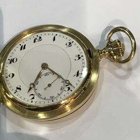 Relógio De Bolso Iwc Em Ouro Puro, Peso: 111,9 Gramas