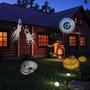 Navidad Proyector Lámpara 12 Patrones Coloridos Lentes