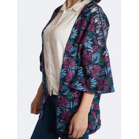 Kimono Lanilla Estampado Con Puntilla, Union Good Oferta!!!