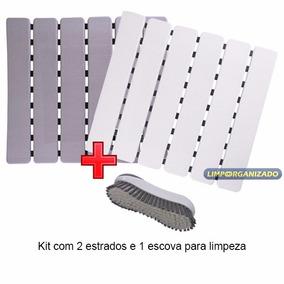 Tapete Estrado Antiderrapante Box C/ Ventosas Mais Escova