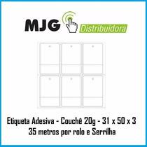 Etiqueta Adesiva 31x50x3 P/ Impressora Zebra, Argox, Elgin