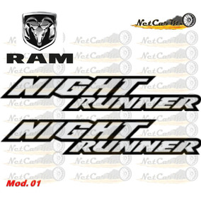 Sticker Calcomania Dodge Ram Night Runner Envio Gratis