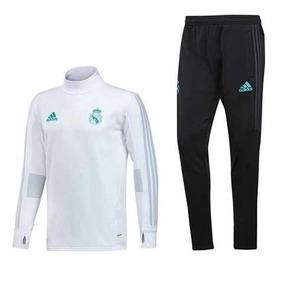 Pants De Entrenamiento Real Madrid 2017-2018 Entubado Blanco