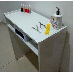 Mesa Manicure Mdf Branco 70x70x30 Cm Escrivaninha Aparador