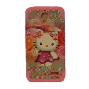 Funda Protector Alcatel Ot6030 Kitty Rosa Gris