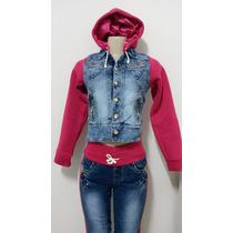 Conjunto De Jaqueta E Calça Jeans Com Moletom Pit Bull