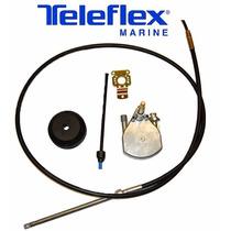 Kit Direção Teleflex Com Caixa Big-t Bezel E Cabo 18 Pés