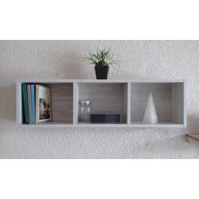 Elegante Repisa Mini Librero Flotante De 3 Espacios