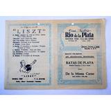 Antiguo Programa Cine Teatro Rio De La Plata Bs. As Año 1954