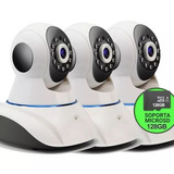 Kit X 3 Cam Seguridad Ip Hd P2p Motor Wifi Vision Noct