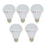 Combo 5 Lamparas Autonomas Led 12w Luz De Emergencia Bulbo