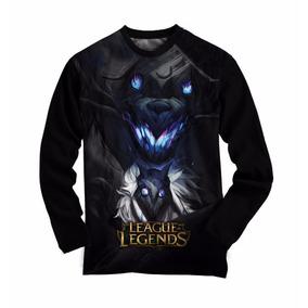 Camiseta Manga Longa League Of Legends Kindred - Camisa Game