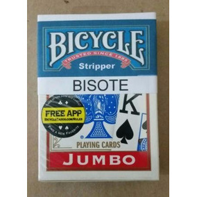 1 Baralho Bisotê Bicycle Jumbo Dorso Vermelho
