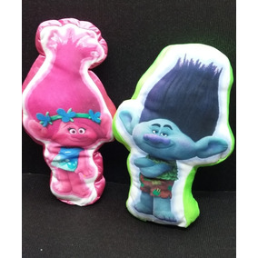 Cojines Personajes Trolls Poppy Y Ramon Hipoalergenicos