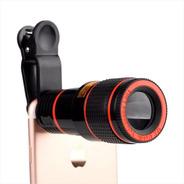 Lente Clip Telescopio Zoom Óptico 12x Para Celular / Tablet