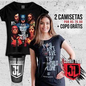 Combo Feminino Da Justiça - Kit 2 Camisetas + Copo Grátis