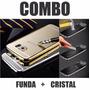 Combo Funda Protector Aluminio Y Cristal Templado Samsung S4