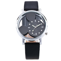 Reloj De Pulsera Mickey Mouse Para Mujer / Negro