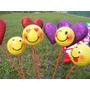 Globos Carita Feliz Emoticones , Corazones Día Del Amor