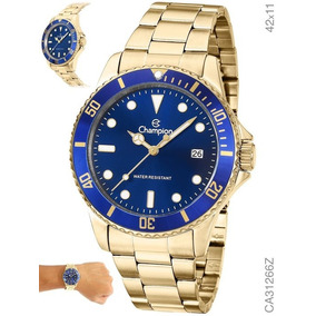 Relógio Masculino Dourado Banhado Aprova D