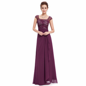 Lindisimo Vestido Fiesta Largo Madrina Casamiento Importado