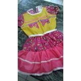Vestido Infantil De Festa Junina 39,99 (cada) 10pçs Atacado