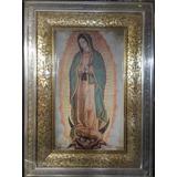 Cuadro De La Virgen De Guadalupe Hoja De Oro Y Plata 1mt