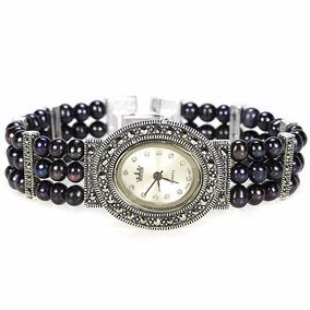 Relógio Com Marcassita Em Prata Esterlina 925. F-445