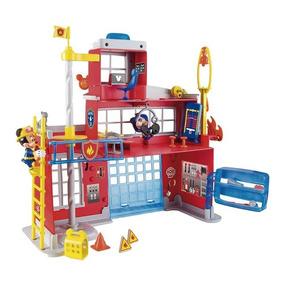 Mickey Estacion De Bomberos Y Camion Luz Y Sonido + Figuras