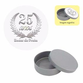 300 Lembrancinha Bodas De Prata Latinha Mint To Be E Adesivo