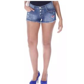 Short Jeans Feminino Sawary Kit Com 2