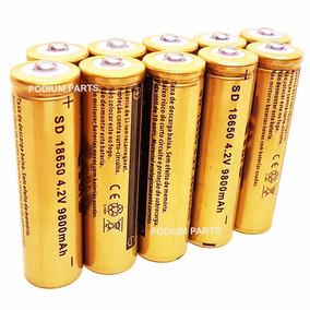 Kit 12 Baterias Lanterna Tática Led 18650 Gold 9800mah 4,2v