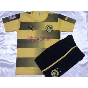 Camiseta Del Borussia + Pantalon De Juego Niños