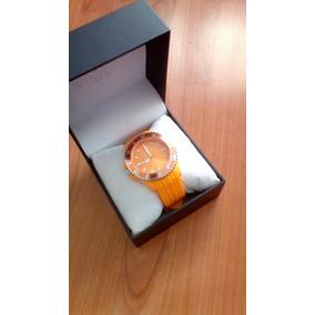Reloj Suizo Steiner St22496d Color Naranja