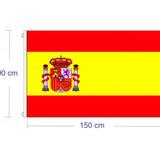 Bandera Brasil,españa Y Estados Unidos 150x90