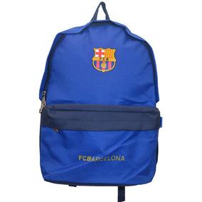 Mochila Barcelona Bolso Fc17 Azul Mediana Para Niño Adulto