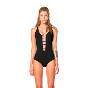 Vestido De Baño Entero Negro/ Ref Elly