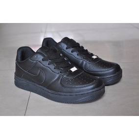 Kp3 Zapatos Nike Air Force One Negro All Black 35 Al 40