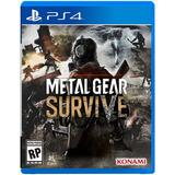 Metal Gear Survive Ps4 Juego Original Físico Sellado Blu-ray
